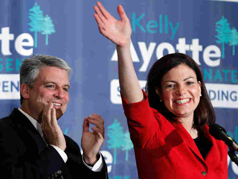 New Hampshire Sen.-elect Kelly Ayotte, a Republican, celebrates winning the Senate race in Concord, N.H.