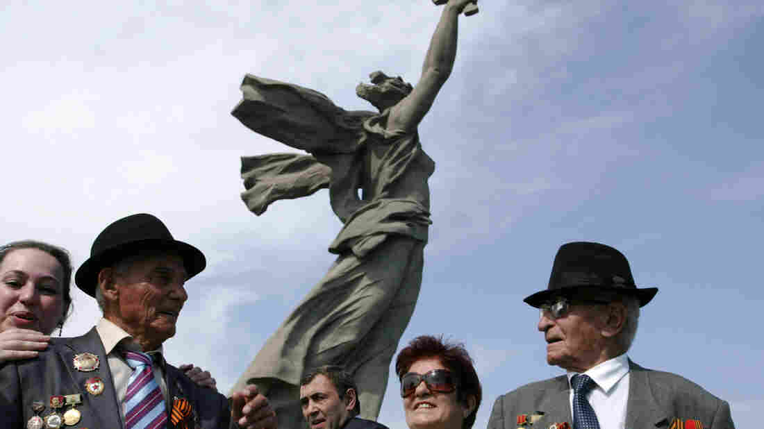Russian World War II veterans attend Victory Day event in Volgograd, Russia, in May 2010