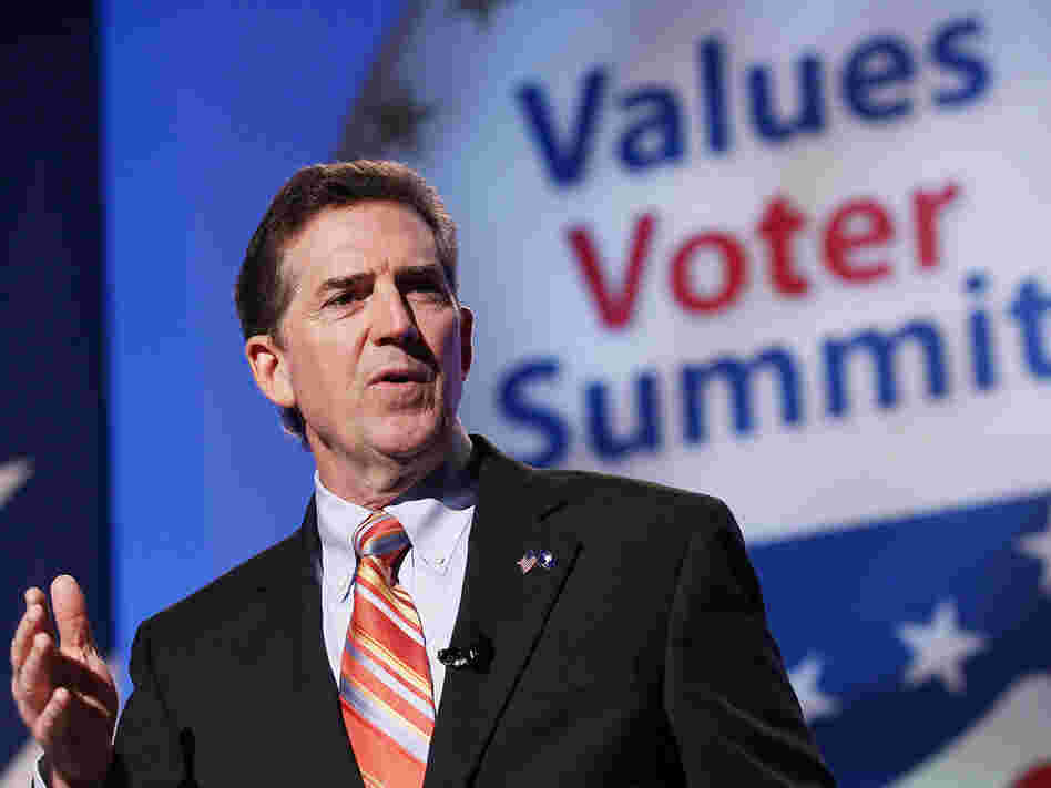 Sen. Jim DeMint (R-SC) speaks at the Values Voter Summit in Washington, D.C., in September.