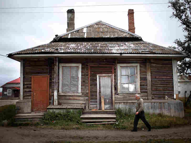 An old house in the small town on Solovetsky was originally built to house prisoners in the 1920s and '30s