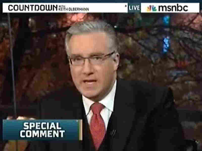 Keith Olbermann in a screen grab from MSNBC.