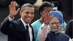 U.S. President Barack Obama, left, and Indian Prime Minister Manmohan Sing