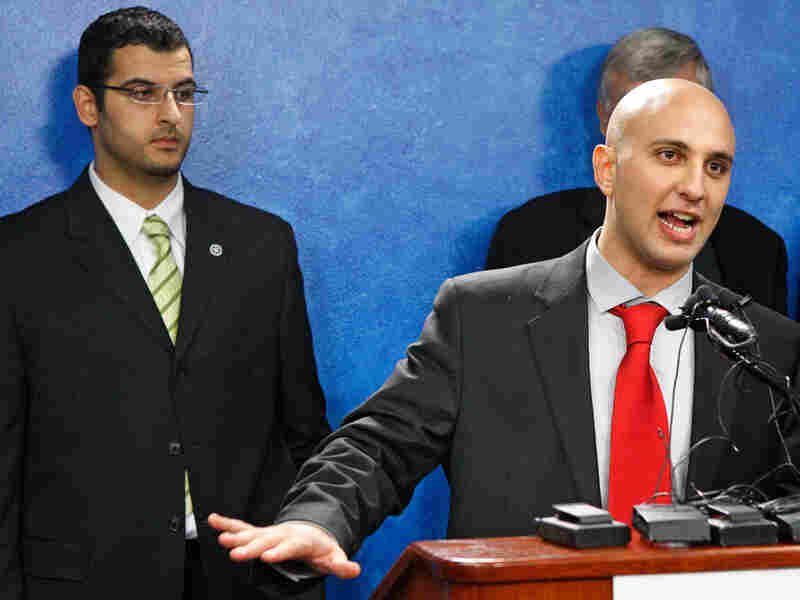 Muneer Awad (left), executive director of Oklahoma's Council on American-Islamic Relations