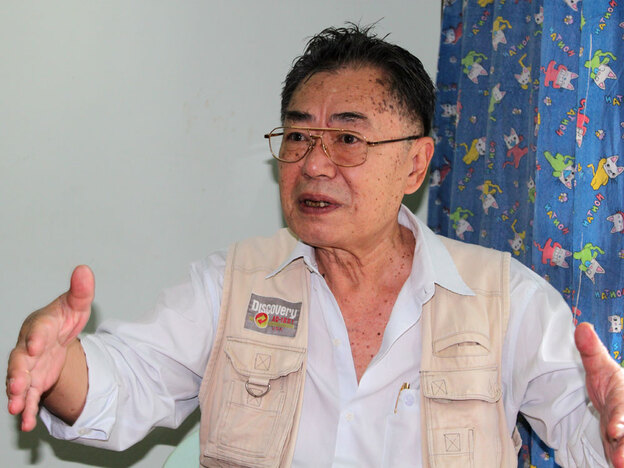 Saw David Tharkapaw is vice chairman of the Karen National Union, whose armed wing, the Karen National  Liberation Army, has waged war with Myanmar's military for decades. Tharkapaw  says the Burmese army is preparing to launch a military offensive against ethnic  forces after the election.