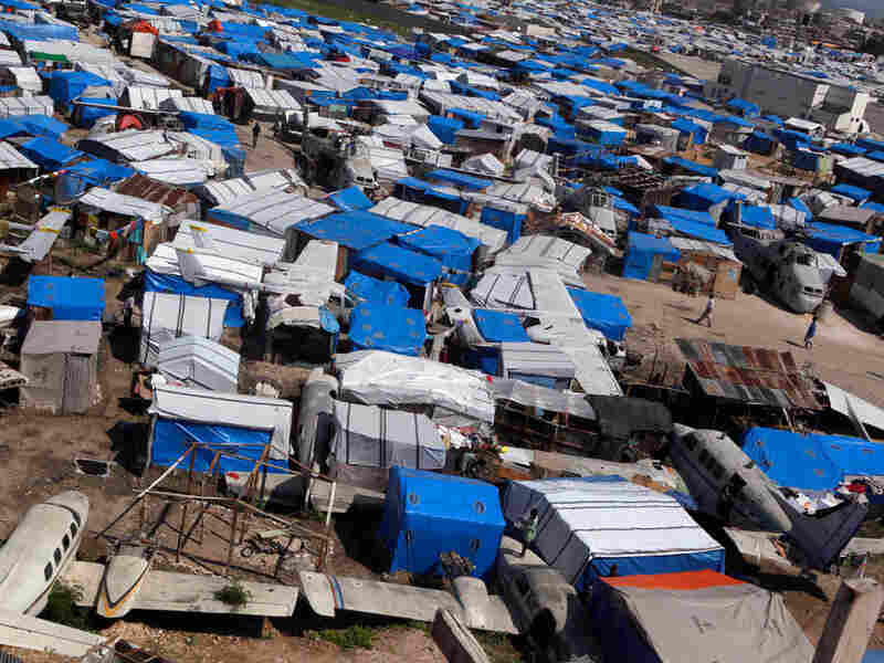 More than a million people remain in makeshift camps