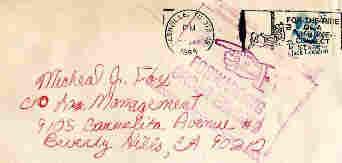 Envelope to Michael J. Fox from a fan