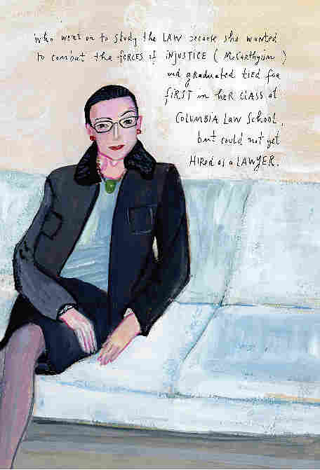 Kalman's illustration of Supreme Court Justice Ruth Bader Ginsberg