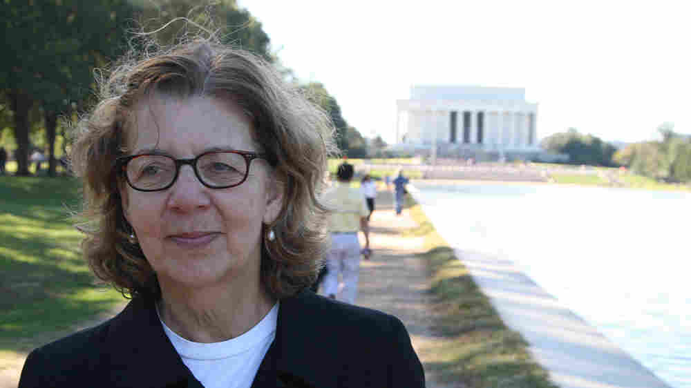 Maira Kalman on the National Mall in Washington, D.C.