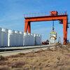 Casks containing nuclear material in Aktau, Kazakhstan
