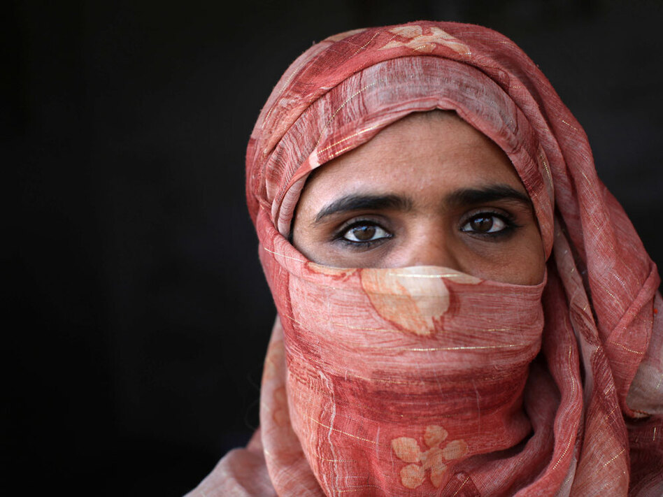 Maliha, a Bedouin mother of four, at her home in Nuweiba, Sinai  Peninsula, Egypt. (Holly Pickett for NPR)
