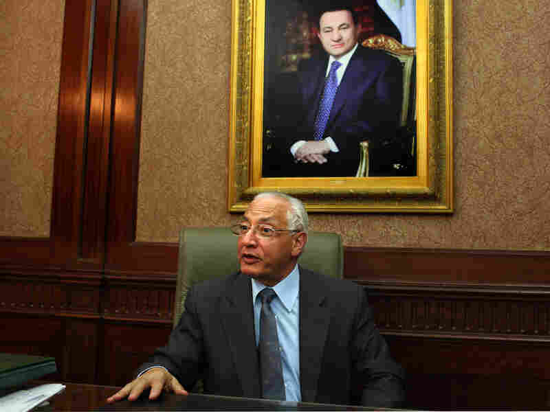 The spokesman of Mubarak's ruling National Democratic Party, Ali El Dean Hillal, in his Cairo office.