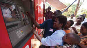 Mobile banking clients in Mchinji, Malawi