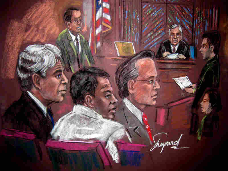 Courtroom drawing shows terrorism suspect Ahmed Ghailani