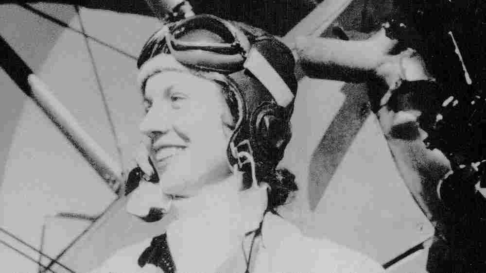 Ellene in 1947 near Fort Belvoir, Va., where she learned how to fly planes.