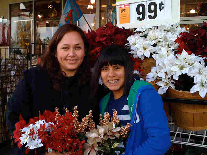 Guissella Nakatani of Sacramento, Calif., visits a craft store with her daughter, Lili Quevedo.