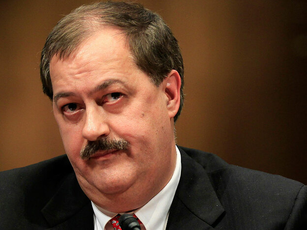 Chairman and CEO of Massey Energy Company Don Blankenship listens during a hearing before the Labor, Health and Human Services, Education, and Related Agencies Subcommittee of the Senate Appropriations Committee May 20, 2010 on Capitol Hill in Washington, DC. (Getty Images)