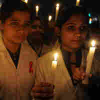 Candlelight vigil in Amritsar, India, for World AIDS Day