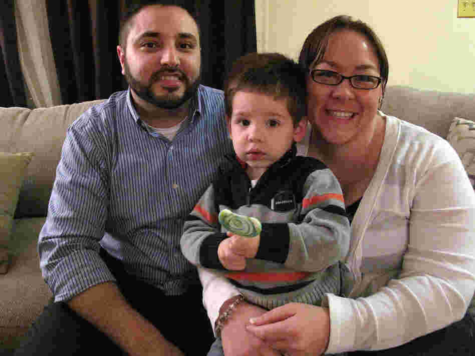 Andrew Felices and Mellissa Giles of Frederick, Md., with their son AJ.
