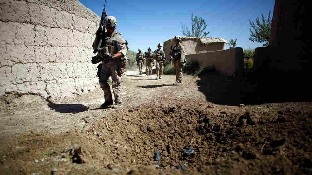 Marines on patrol in Afghanistan's Helmand province.
