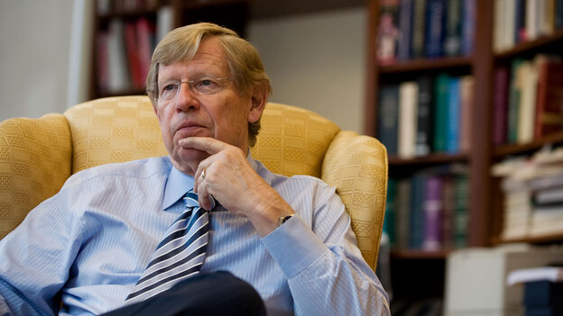 Ted Olson, who served as President George W. Bush's solicitor general, is now one of the lead lawyers trying to overturn California's Proposition 8, which bans gay marriage. (The Washington Post via Getty Images)