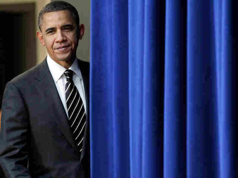 President Obama, shown entering the White House South Court Auditorium on Wednesday.