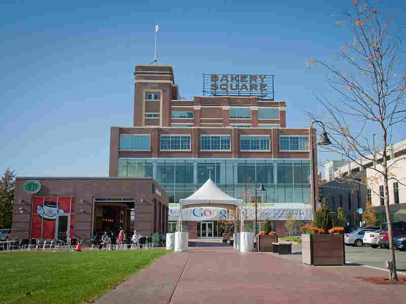 Pittsburgh's Bakery Square, an old Nabisco factory, is now home to a Google office.