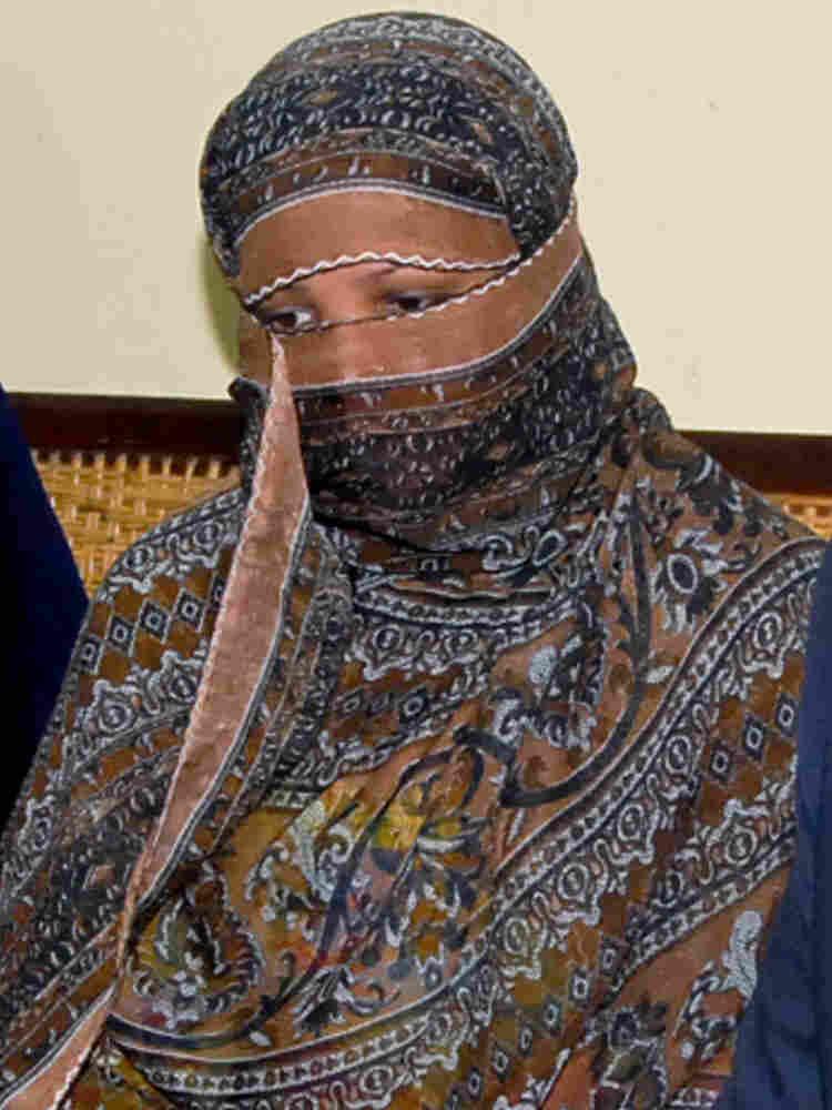 Asia Bibi at a prison in Sheikhupura near Lahore