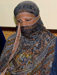 Asia Bibi at a prison in Sheikhupura near Lahore