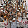 Activists of the Pakistani fundamentalist party Jamiat Talaba Islam protest last month in Karachi