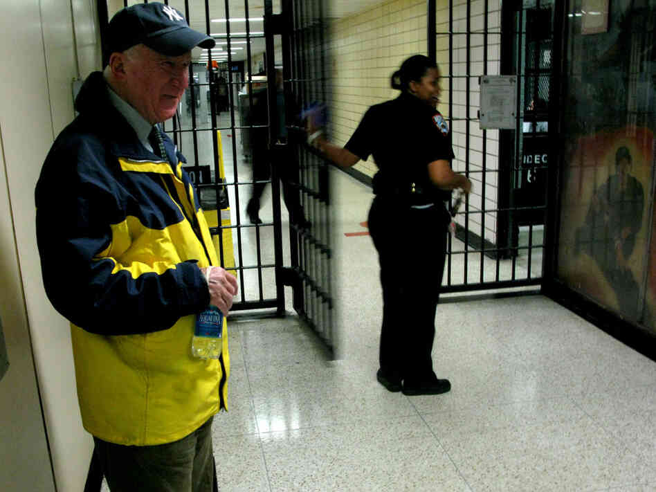 Mark Goldsmith stands insude Rikers Island prison.