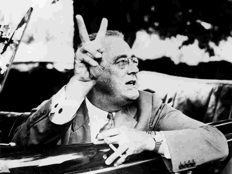FDR at his estate in Hyde Park, N.Y.