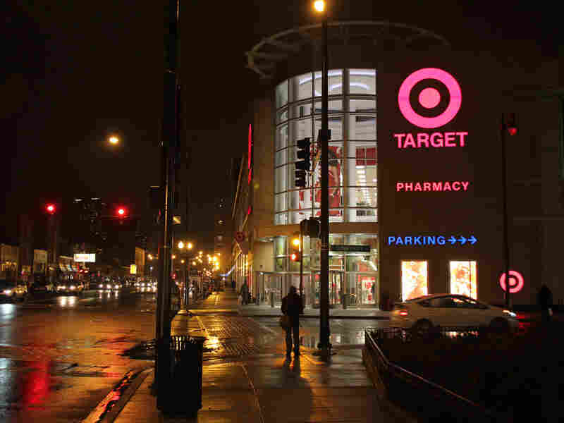 Target store at night