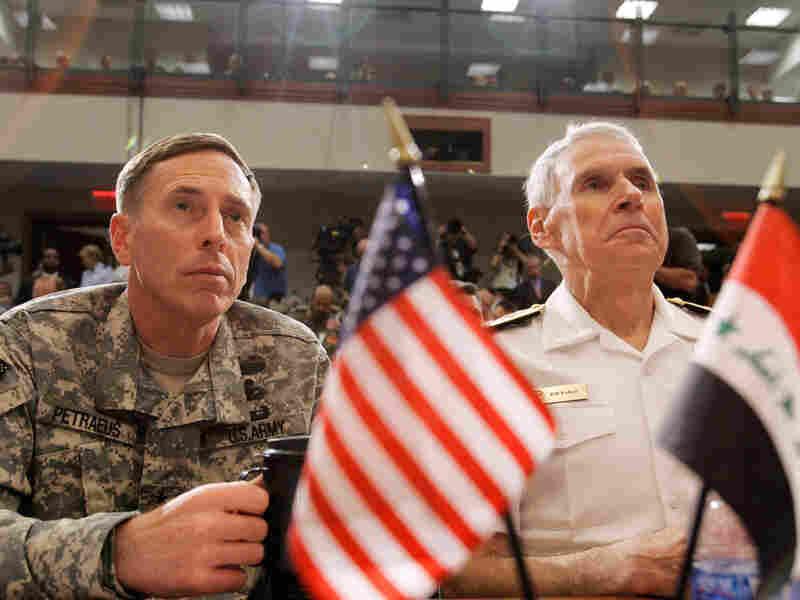 Gen. David Petraeus (left) and Adm. William Fallon on May 1, 2007.