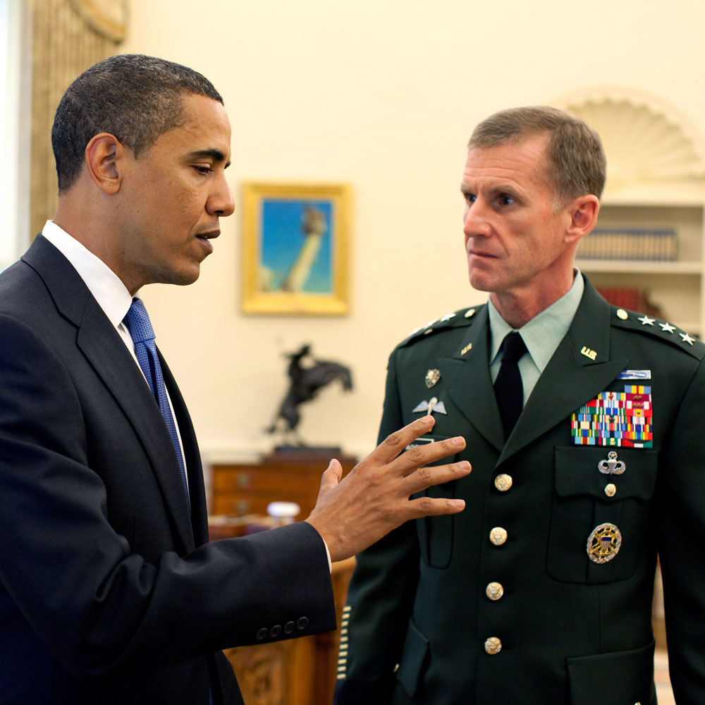 President Obama and Gen. McChrystal in the Oval Office; May 19, 2009.
