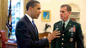 President Obama and Gen. Stanley McChrystal in the Oval Office, May 19, 2009.
