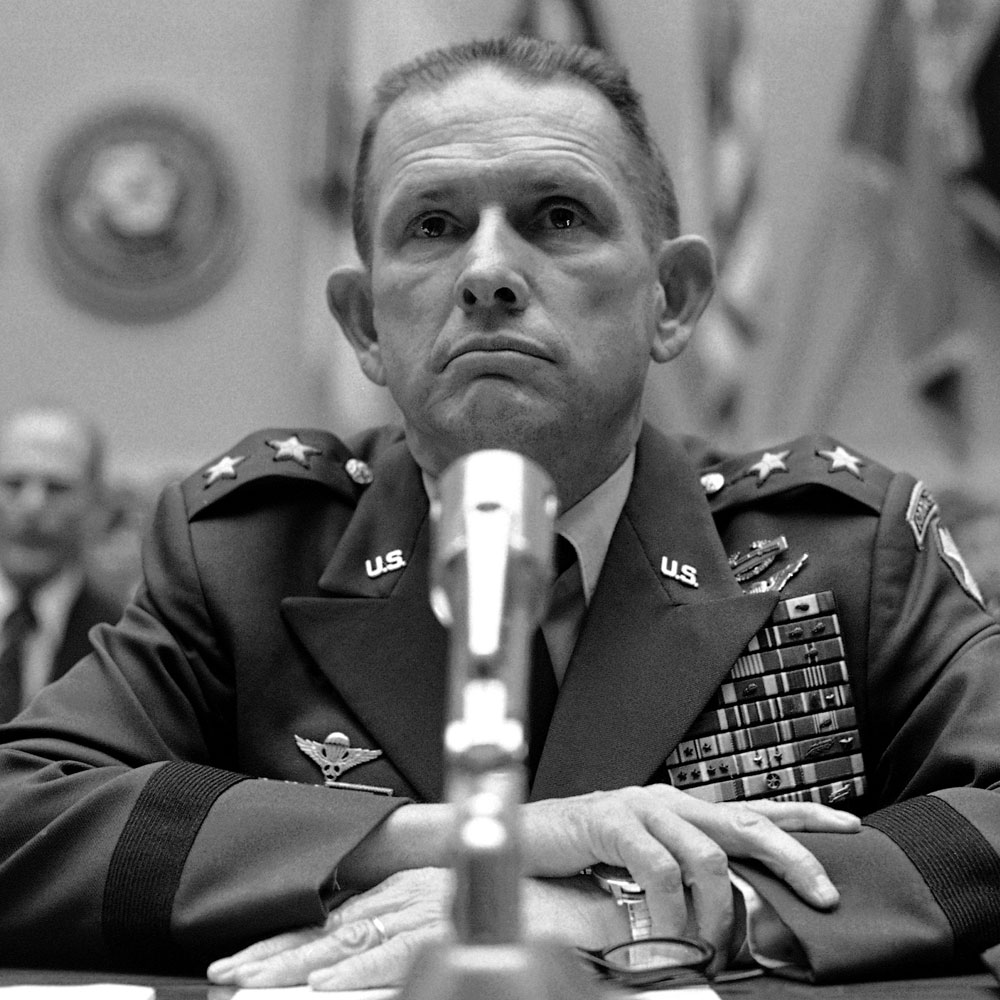 Maj. Gen. John K. Singlaub at a House hearing in May, 1977.