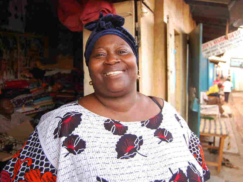 Pamela Omiyo, a shop owner, says M-PESA has helped triple her business in recent years