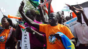 Southern Sudanese rally on the streets of the southern capital Juba, Dec. 9, 2010