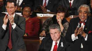 "Sen. Charles Schumer (D-NY), left, speaks with Sen. Tom Coburn (R-OK). ""We believe in strenuous discourse,"" Schumer told NBC News."