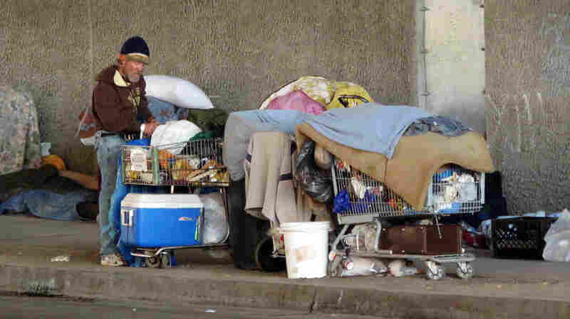 There are about 4,600 homeless people in San Diego.  Many are substance abusers or mentally ill.