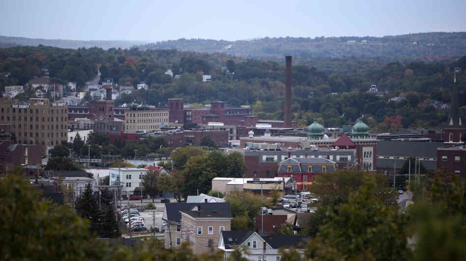 wide: A view of Lewiston, Maine