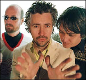 Michael Ivins, Wayne Coyne and Steven Drozd of The Flaming Lips.