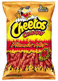 A bag of Flamin' Hot Cheetos.