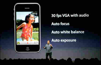 Apple's Phil Schiller talks about the the video features on the new iPhone 3GS in San Francisco, Mon