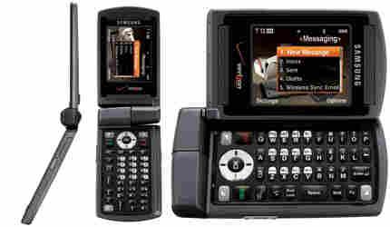 Three views of an Alias phone from Samsung. Photo: Samsung.