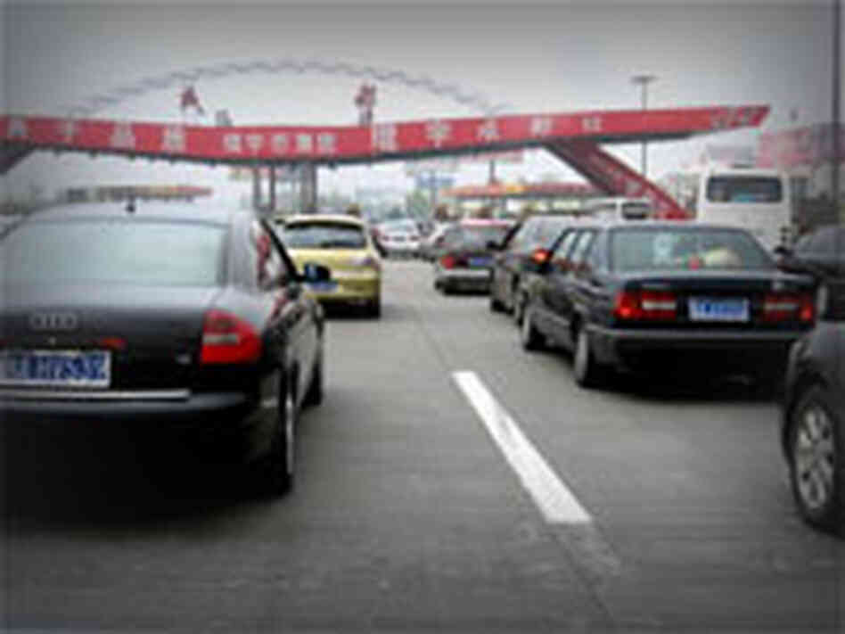 traffic jam Chengdu