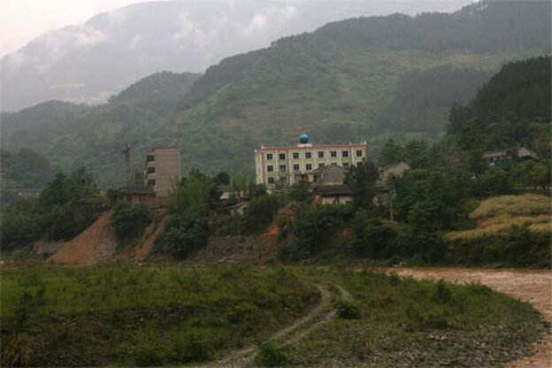 damaged Sichuan village