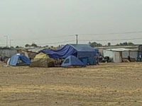 A homeless encampment in Fresno