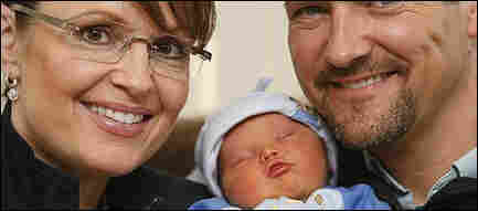 Sarah, Todd and Trig Palin