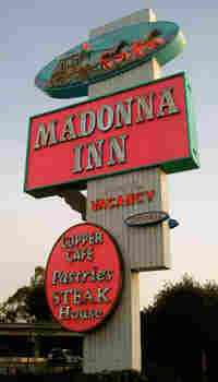 Madonna Inn Road Sign